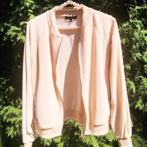 👑 KENDALL & KYLIE Blush & White Jacket Medium M